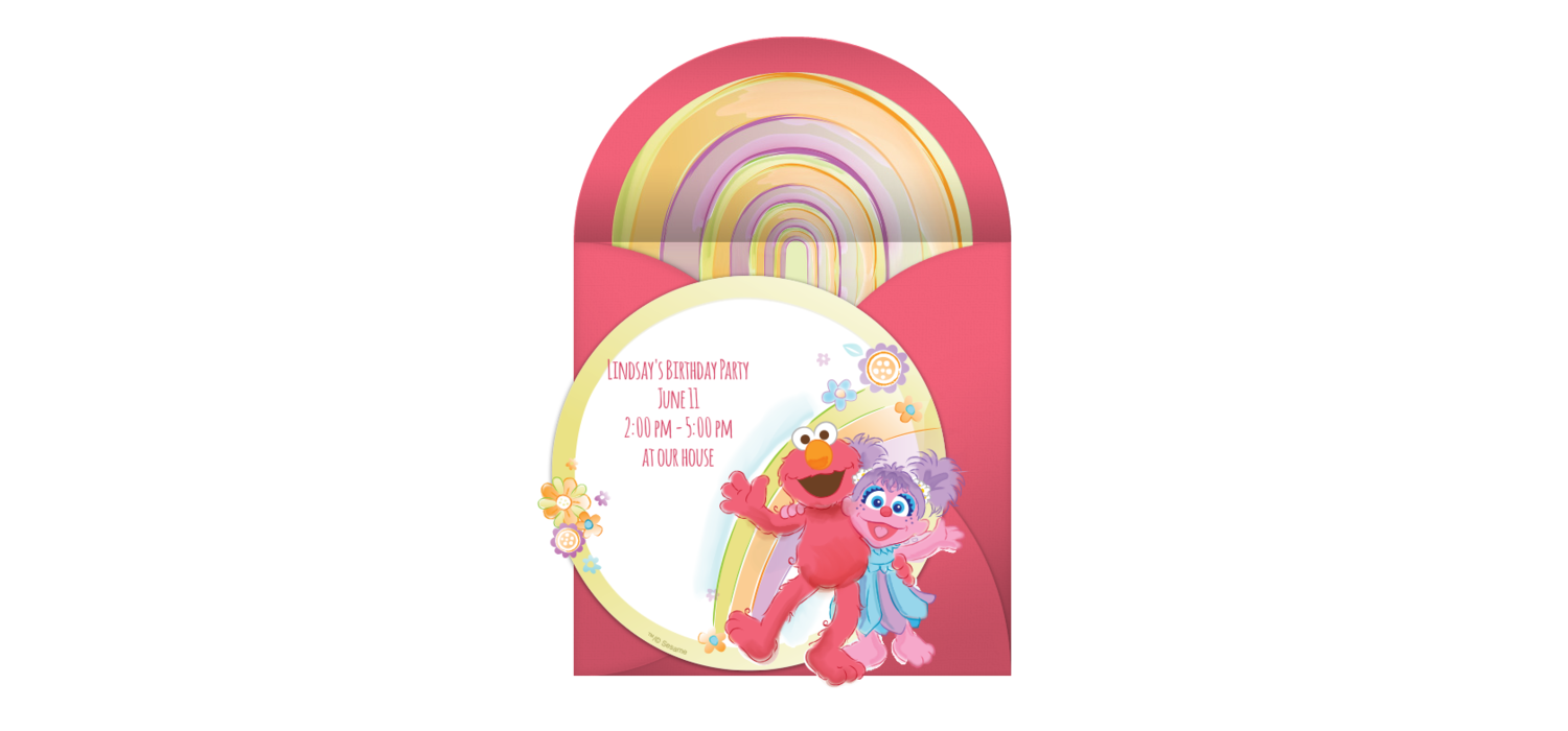 Free Elmo and Abby Online Invitation - Punchbowl.com