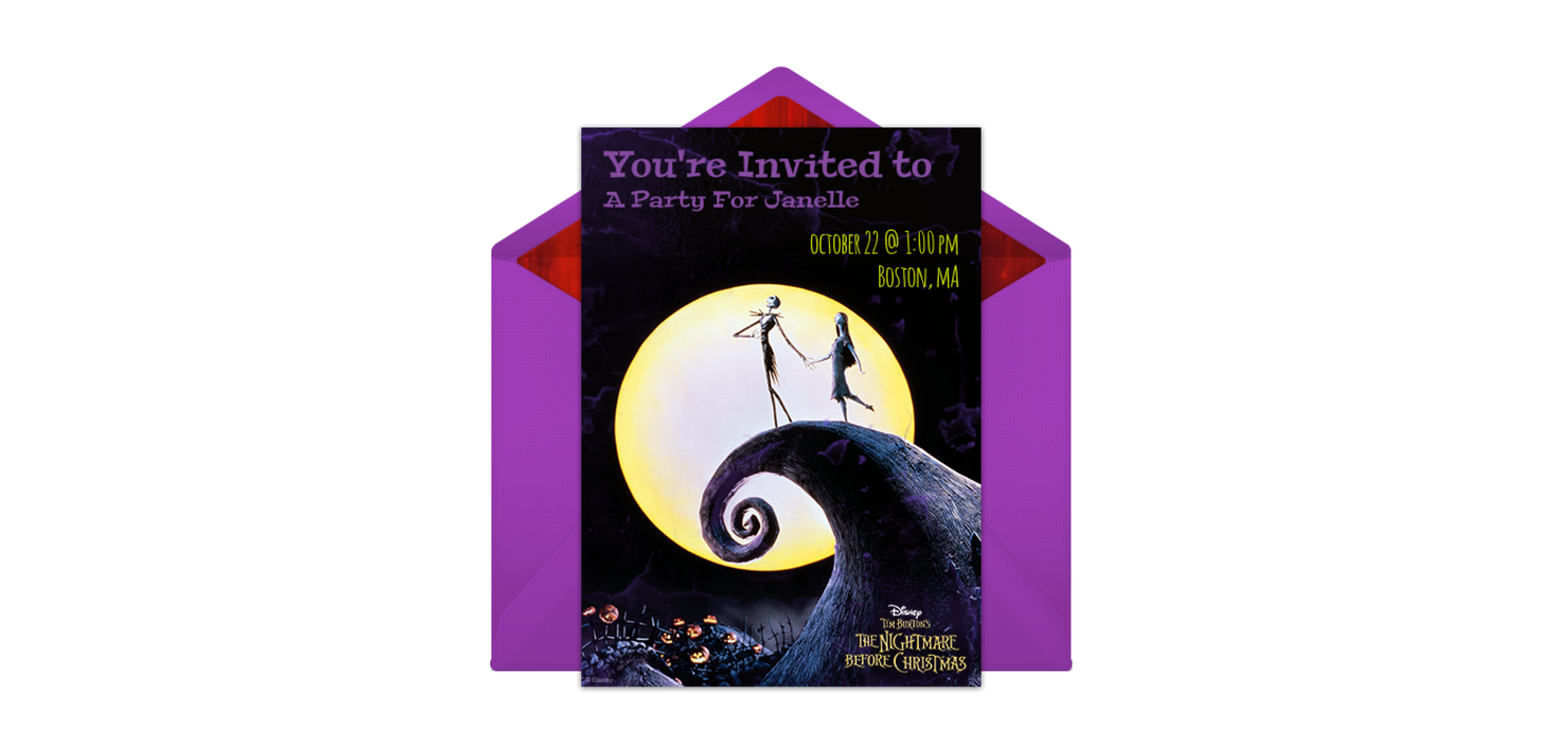 Free The Nightmare Before Christmas Online Invitation