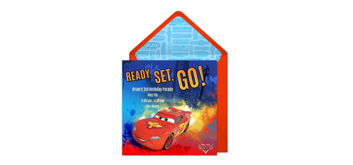 Free cars lightning mcqueen online invitation punchbowl kristyandbryce Images