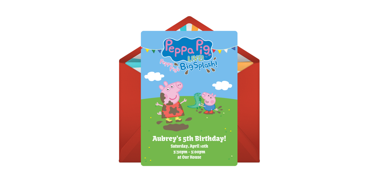 Free Peppa Pig Live Online Invitation