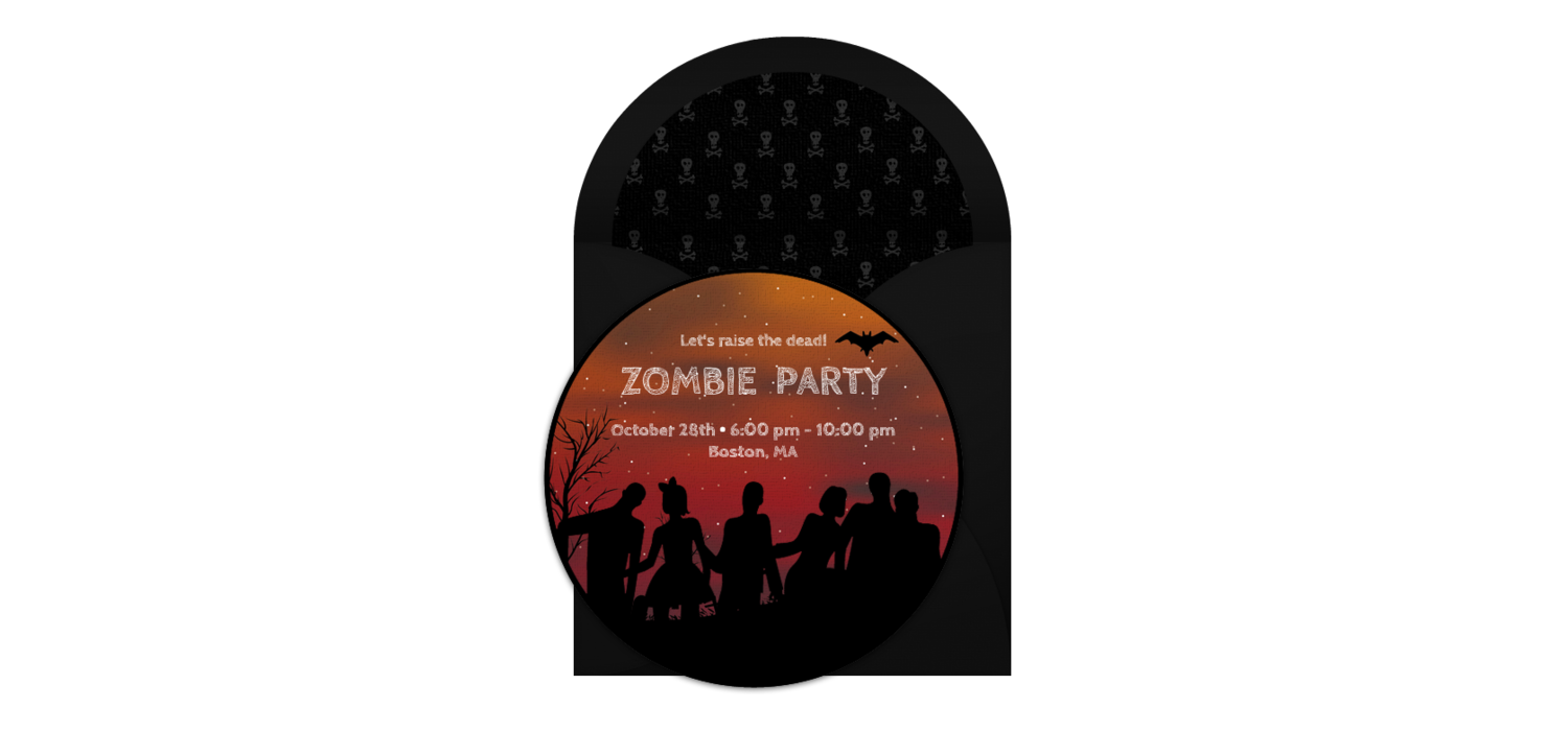 Free Zombies Online Invitation - Punchbowl.com