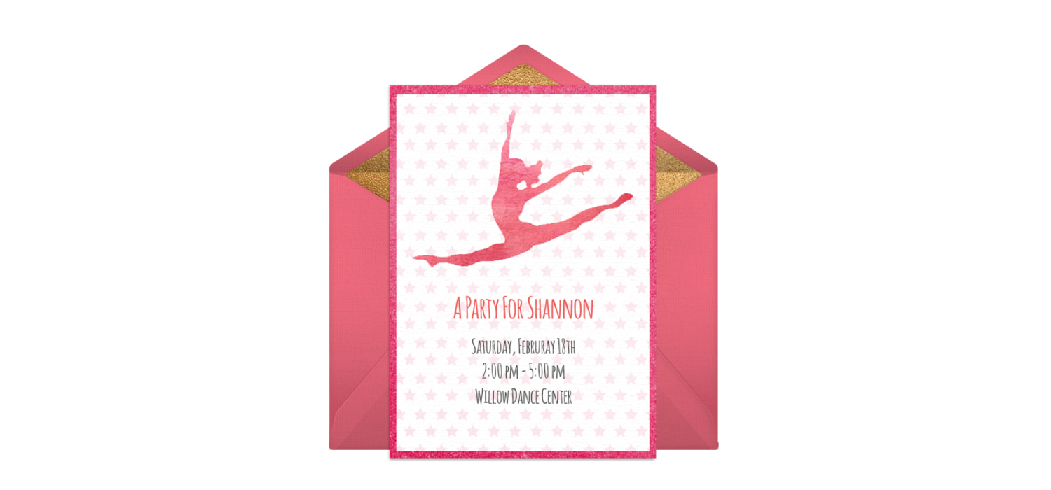 Free Gymnastics Party Online Invitation - Punchbowl.com